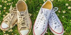 أفضل 6 طرق لتنظيف حذاء كونفيرس الأبيض